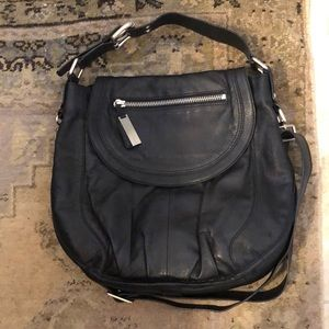 Kenneth Cole Black Leather Shoulder Crossbody Bag